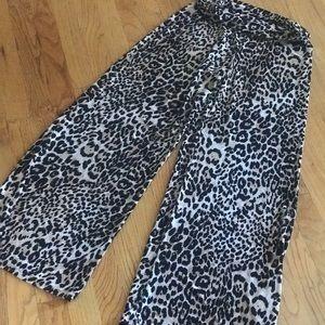Pants - Leopard palazzo pant.  Size LG (10-12) women's.